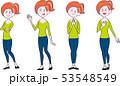 女性 全身 立ちポーズセット 53548549