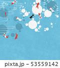 背景素材-夏イメージ-和モダン-水玉-金魚-アクアリウム 53559142