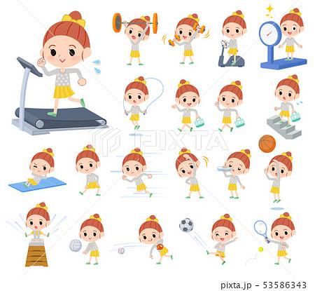 yellow clothing girl_exercise 53586343