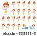 子供 女の子 幼児のイラスト 53586345