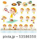 子供 女の子 料理のイラスト 53586350