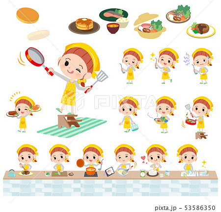 yellow clothing girl_cooking 53586350