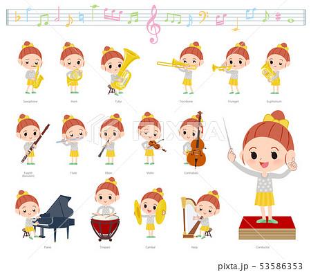 yellow clothing girl_classic music 53586353