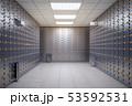 Safe deposit boxes room inside of a bank vault. 53592531