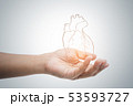 Man holding heart illustration 53593727