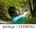 新緑の西沢渓谷 母胎淵(甌穴) 53596561