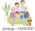家族 三世代 大家族のイラスト 53597047