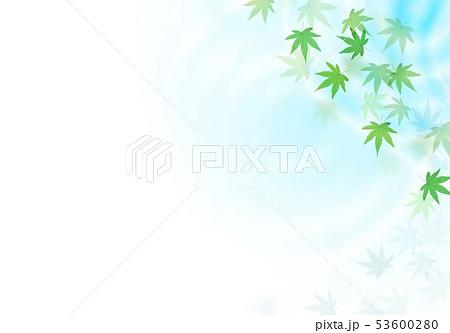 水紋グラデーションと舞う紅葉 53600280
