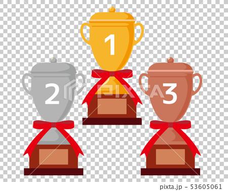 トロフィー 優勝 カップ 優勝カップ 金 銀 銅 53605061