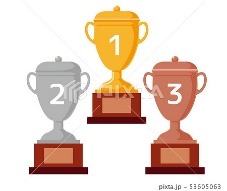 トロフィー 優勝 カップ 優勝カップ 金 銀 銅 53605063