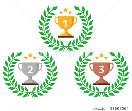 トロフィー 優勝 カップ 優勝カップ 金 銀 銅 53605064