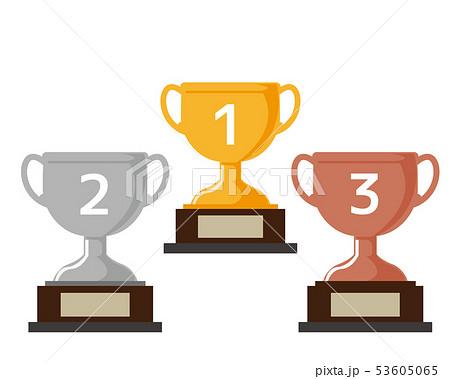 トロフィー 優勝 カップ 優勝カップ 金 銀 銅 53605065
