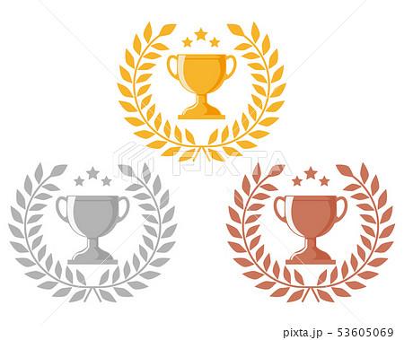 トロフィー 優勝 カップ 優勝カップ 金 銀 銅 53605069