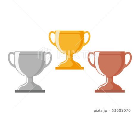 トロフィー 優勝 カップ 優勝カップ 金 銀 銅 53605070