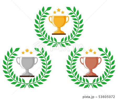 トロフィー 優勝 カップ 優勝カップ 金 銀 銅 53605072