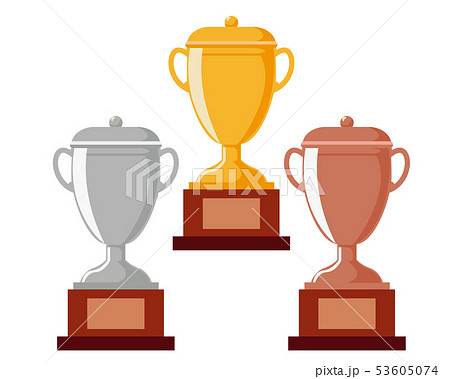 トロフィー 優勝 カップ 優勝カップ 金 銀 銅 53605074
