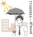 日傘をさす男性 イラスト 53609511