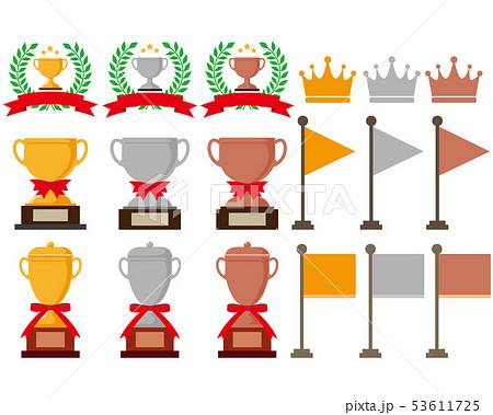 王冠 数字 月桂樹 ランキング 旗 リボン トロフィー 53611725