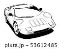 イタリアンヒストリックスポーツ 塗り絵風 自動車イラスト 53612485