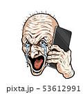 爺叫び涙スマホかける 53612991