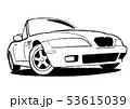 ジャーマンオープンカー ぬり絵風 自動車イラスト 53615039