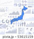 ビジネス資料と日本地図 53615159