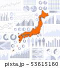ビジネス資料と日本地図 53615160
