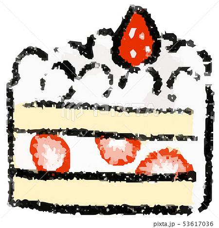 ショートケーキのイラスト 53617036