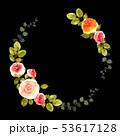 花 フレーム 薔薇のイラスト 53617128