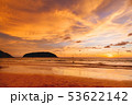 Gorgeous orange sunset at Nai Harn beach. Phuket 53622142