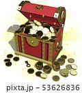 ベクター イラスト デザイン レイアウト ai eps 宝箱 コイン 金 キャンペーン 輝きあり 53626836
