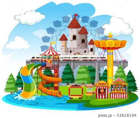 An isolated funfair remplate 53628194