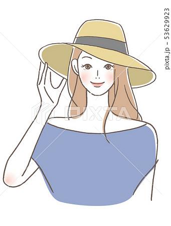 帽子をかぶる女性 53629923