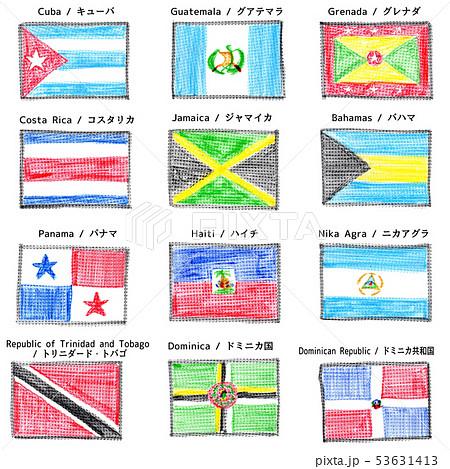 クレヨンで描いた国旗 北アメリカその2 53631413