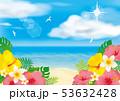 リゾート 夏 ビーチのイラスト 53632428
