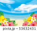 リゾート 夏 ビーチのイラスト 53632431