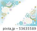 爽やかな淡い水色の和柄 53635589