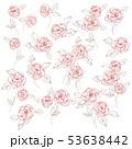 花 植物 花柄のイラスト 53638442