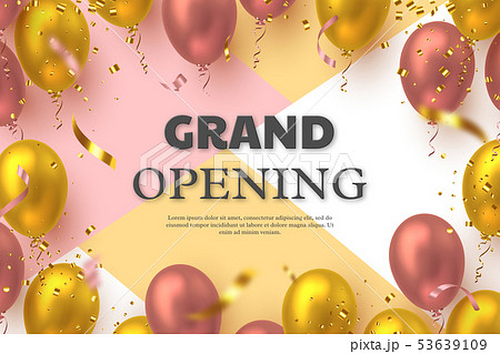 Grand opening ceremony vector banner. 53639109