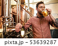 Man tasting fresh beer in a brewery 53639287