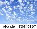 空と雲のバックグラウンド 53640397