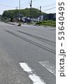 交通事故イメージ(ブレーキ痕) 53640495