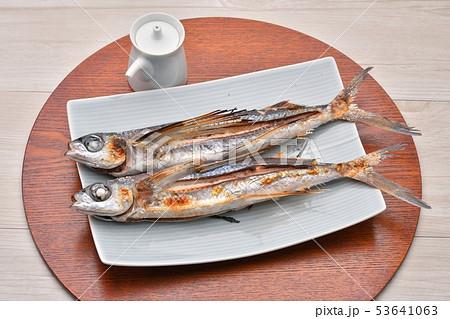 トビウオの塩焼き、焼魚。とびうお、トビウオ、飛び魚、飛魚。和食。 53641063