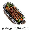 料理 アスパラガス 肉巻きのイラスト 53645299