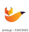 Fox head and tail logo 53653662
