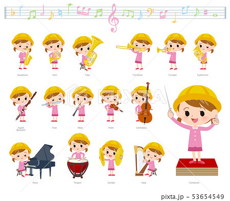 Nursery school girl_classic music 53654549