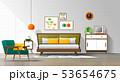 Mid century modern bedroom background 53654675