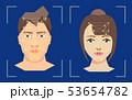 ベクトル 顔 面のイラスト 53654782