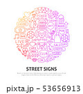 Street Signs Circle Concept 53656913
