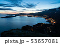 night landscape with the city of Budva 53657081